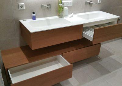Badezimmer-Eiche-Waschtisch
